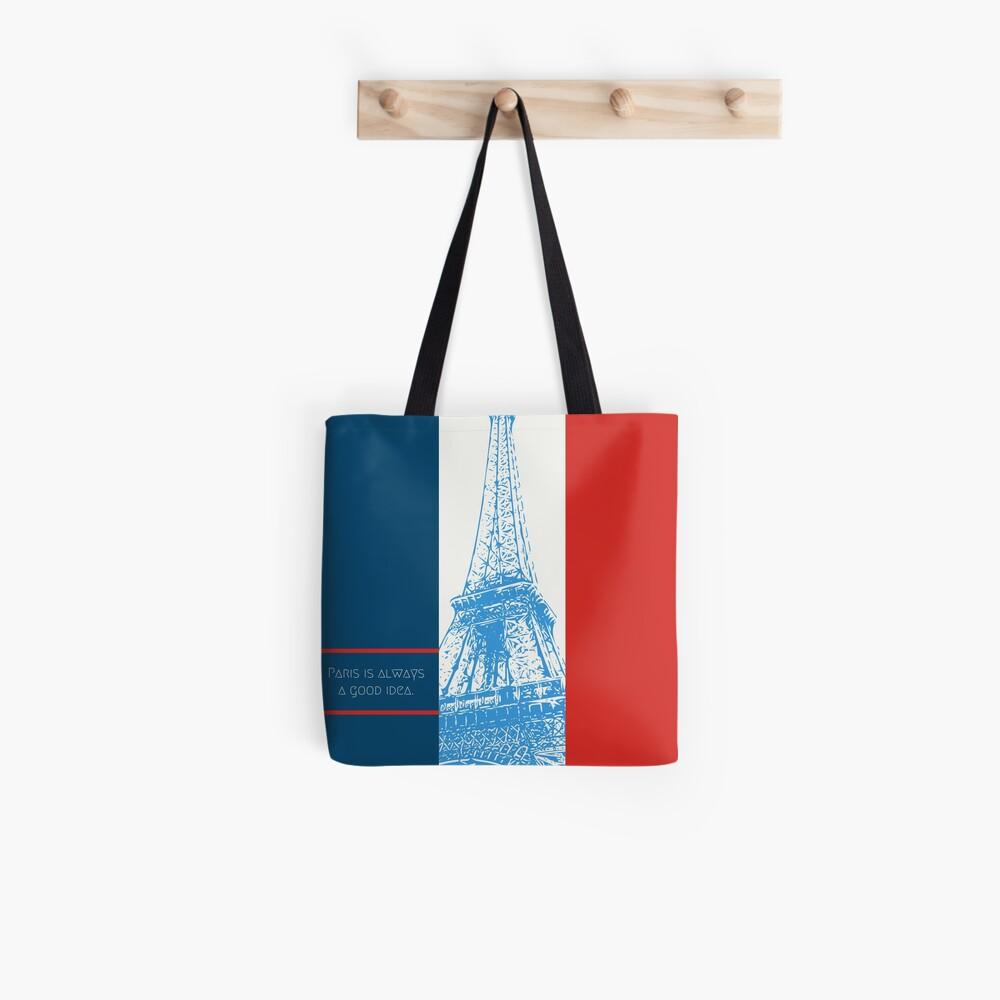 Paris Artwork Tote Bag