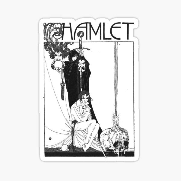 Hamlet William Shakespeare Cover Sticker