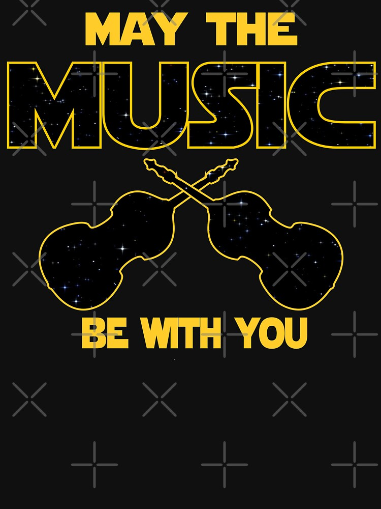 Contrabass T shirt - May The Music Be With You  by funnyguy