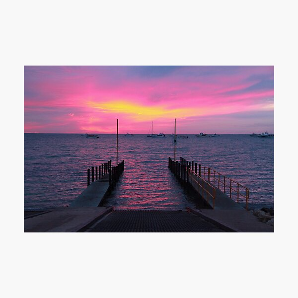Tantabiddi Boat Ramp Exmouth, Ningaloo Reef on Sunset Photographic Print