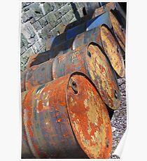 Rusty Barrels Poster