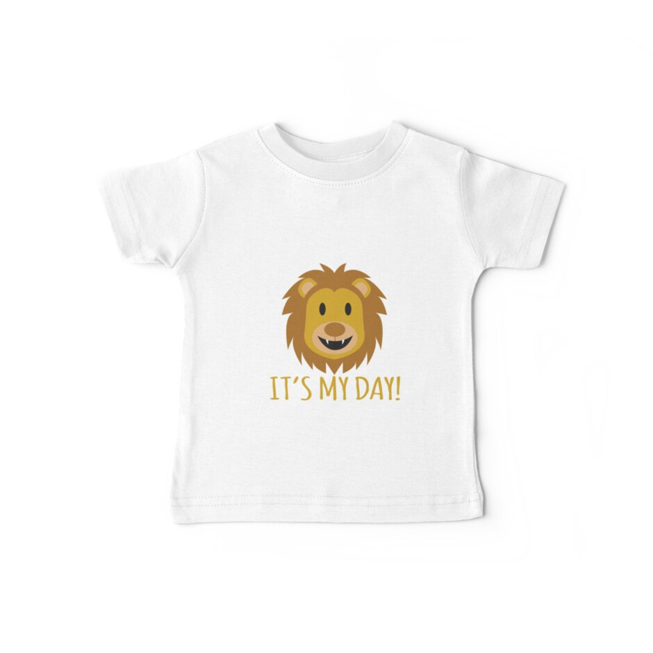 Birthday kids children lion boy girl gift by MyShirt24