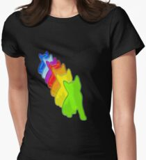 Funny cats design 7 colors gift gift idea Women's Fitted T-Shirt