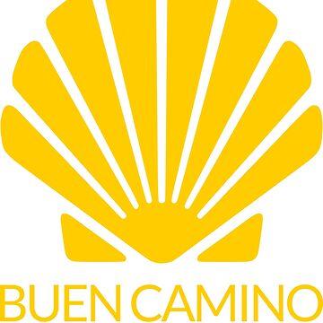 Buen Camino Santiago Pilgrim by studiopico