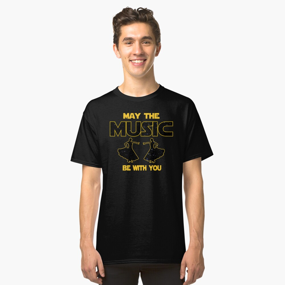 Flamenco T shirt - May The Music Be With You  Classic T-Shirt Front
