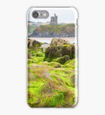 ballybunion castle algae covered rocks iPhone Case/Skin