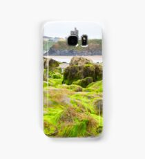 ballybunion castle algae covered rocks Samsung Galaxy Case/Skin