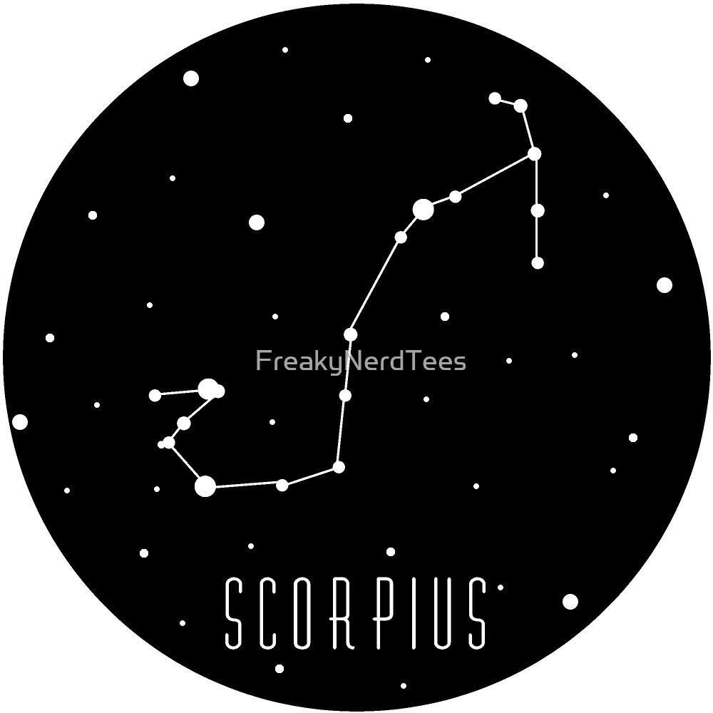 Scorpius Scorpio Zodiac Constellation  by FreakyNerdTees