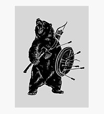 Bear Warrior Photographic Print
