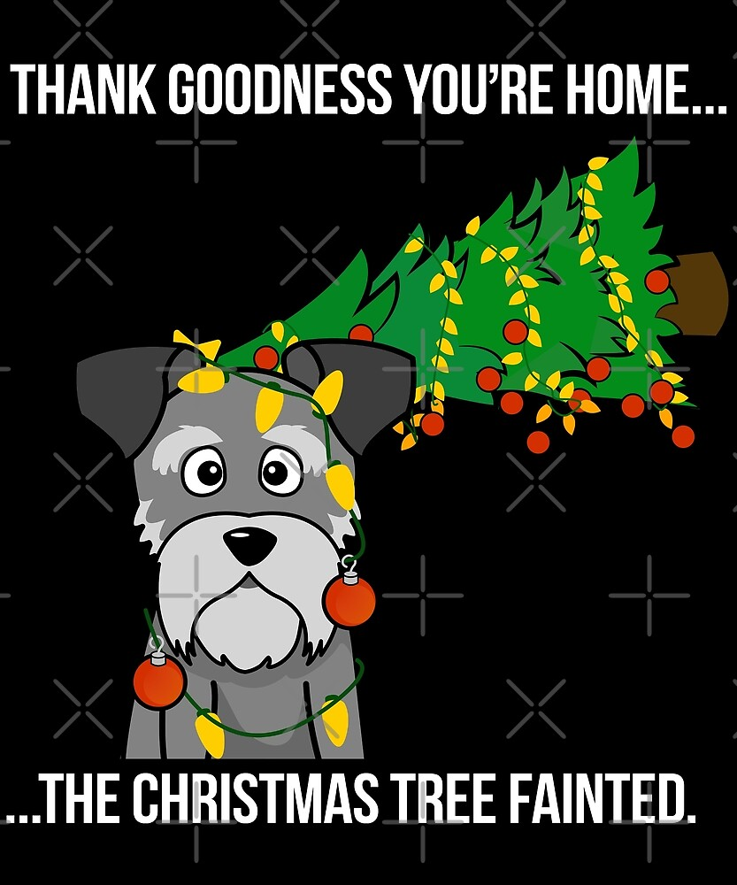 Funny Dachshund The Xmas Tree Fainted Christmas by ilovepaws