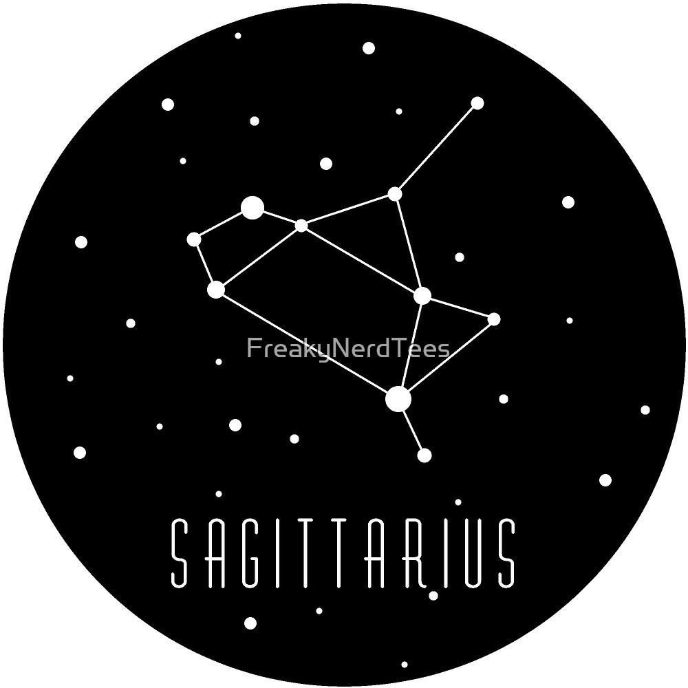 Sagittarius Zodiac Constellation by FreakyNerdTees