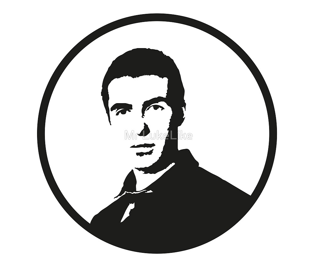 Liam Gallagher - Minimalistic, Transparent, B&W Digital Art by Mr LukeLike