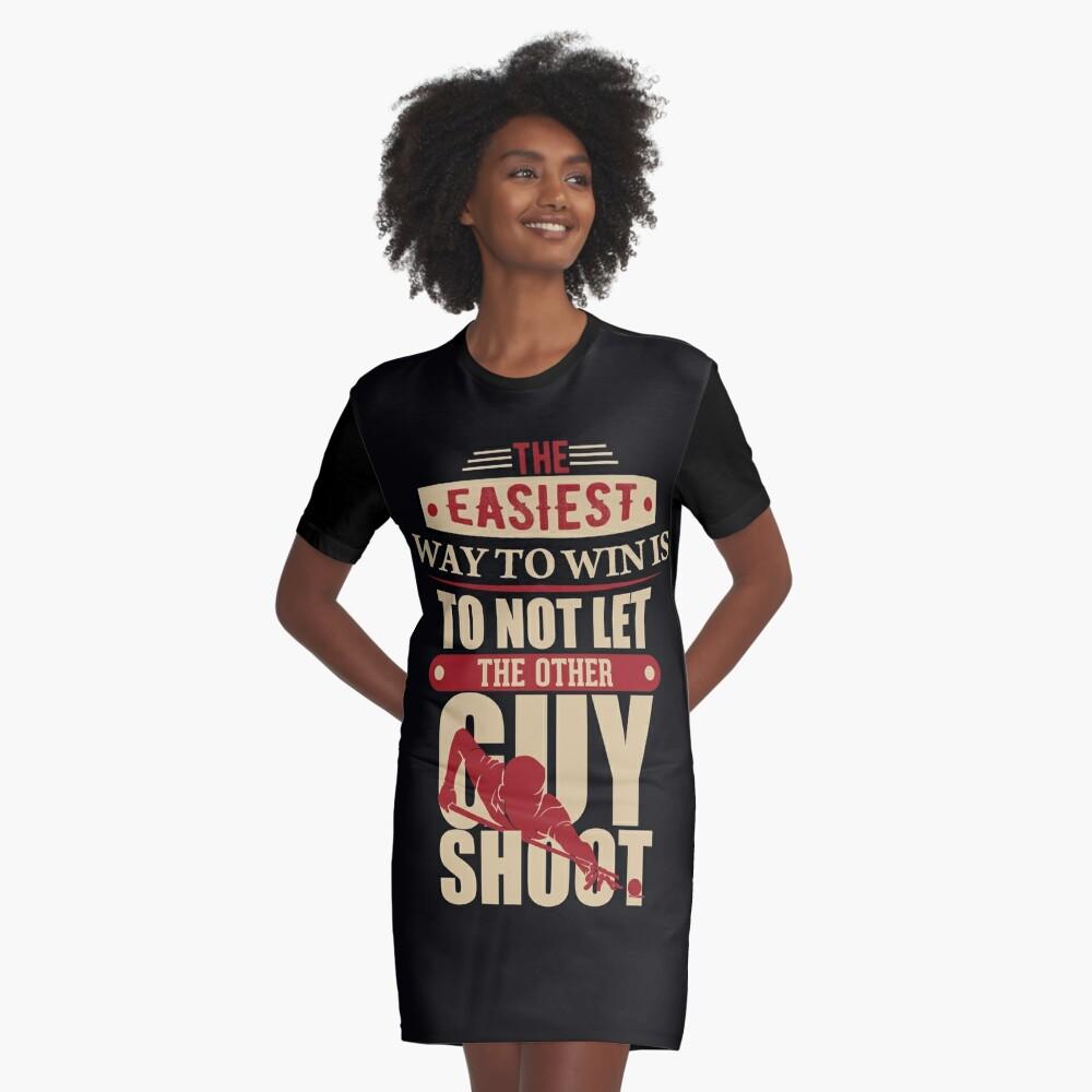 Billard Wisdom Winning Graphic T-Shirt Dress
