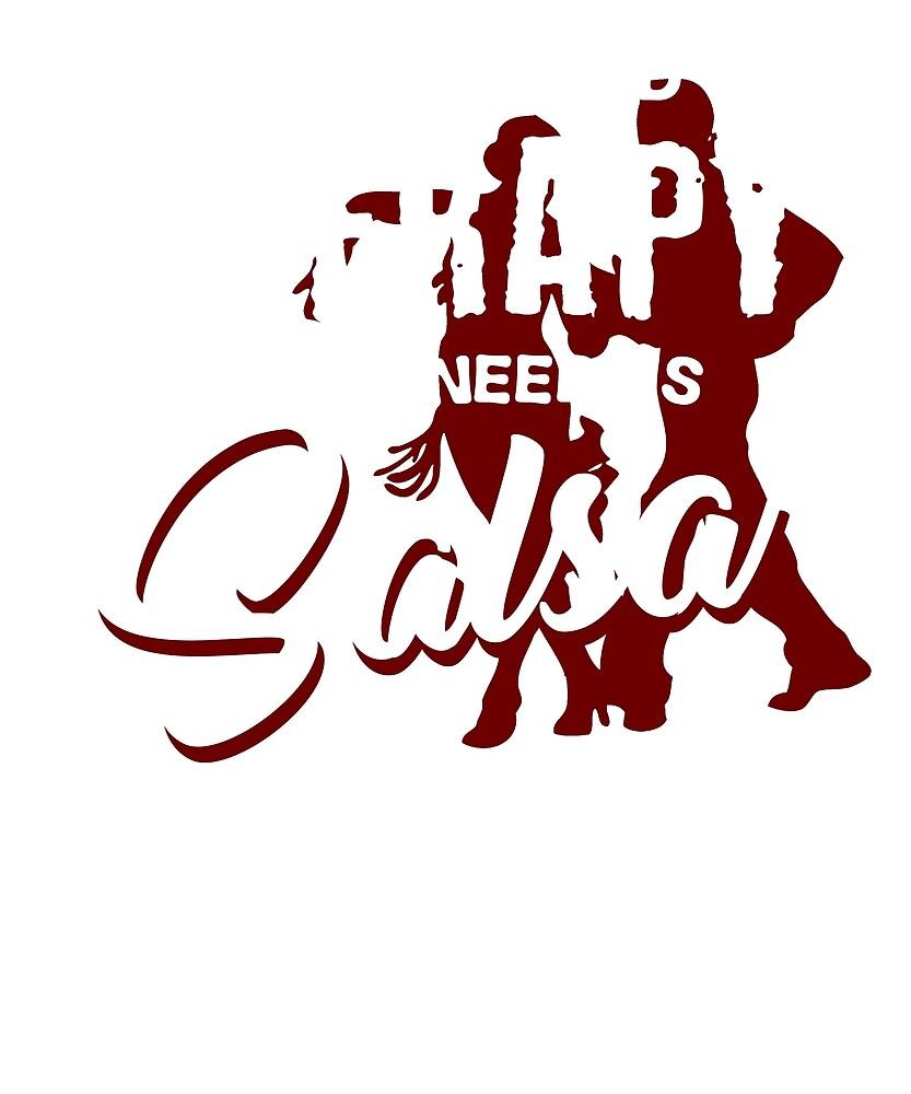 Salsa dance sport by busydesign