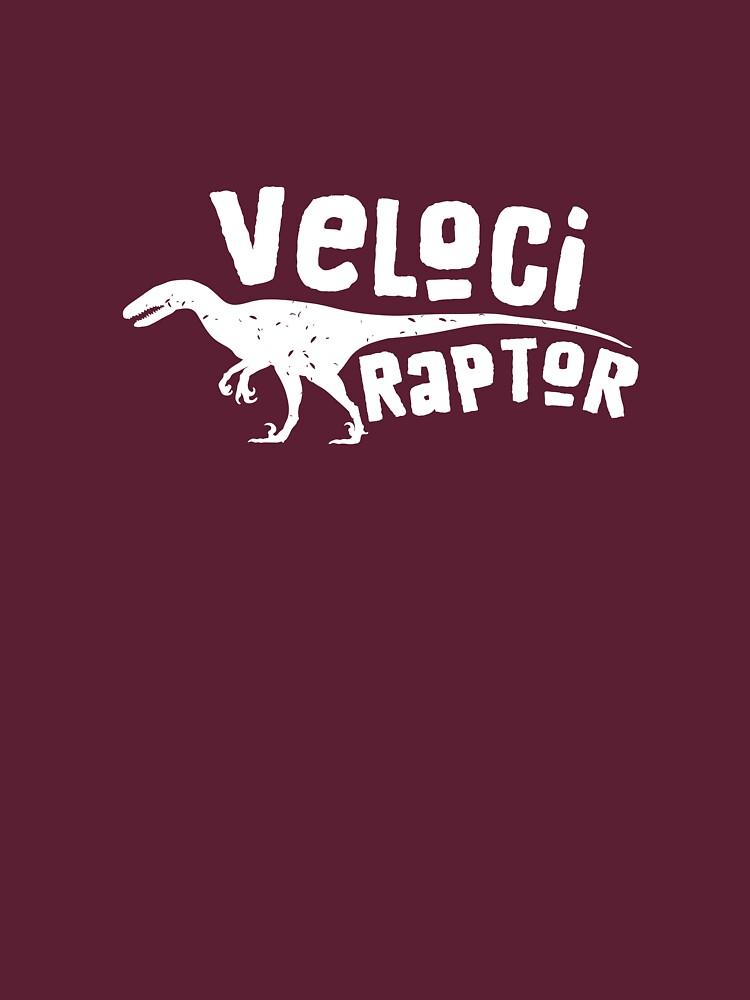 Velociraptor Shirt Dinosaur Tee For Men Women Boys Girls by artbyanave