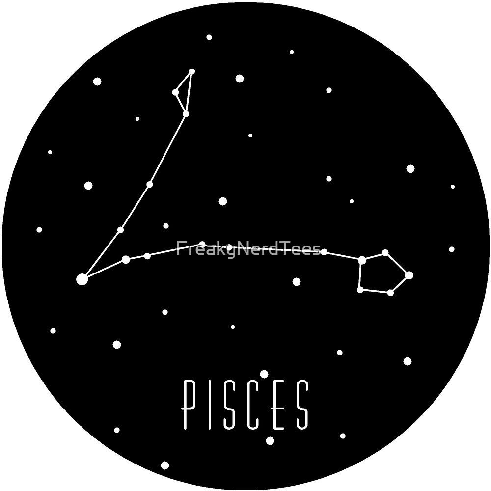 Pisces Zodiac Costellation  by FreakyNerdTees