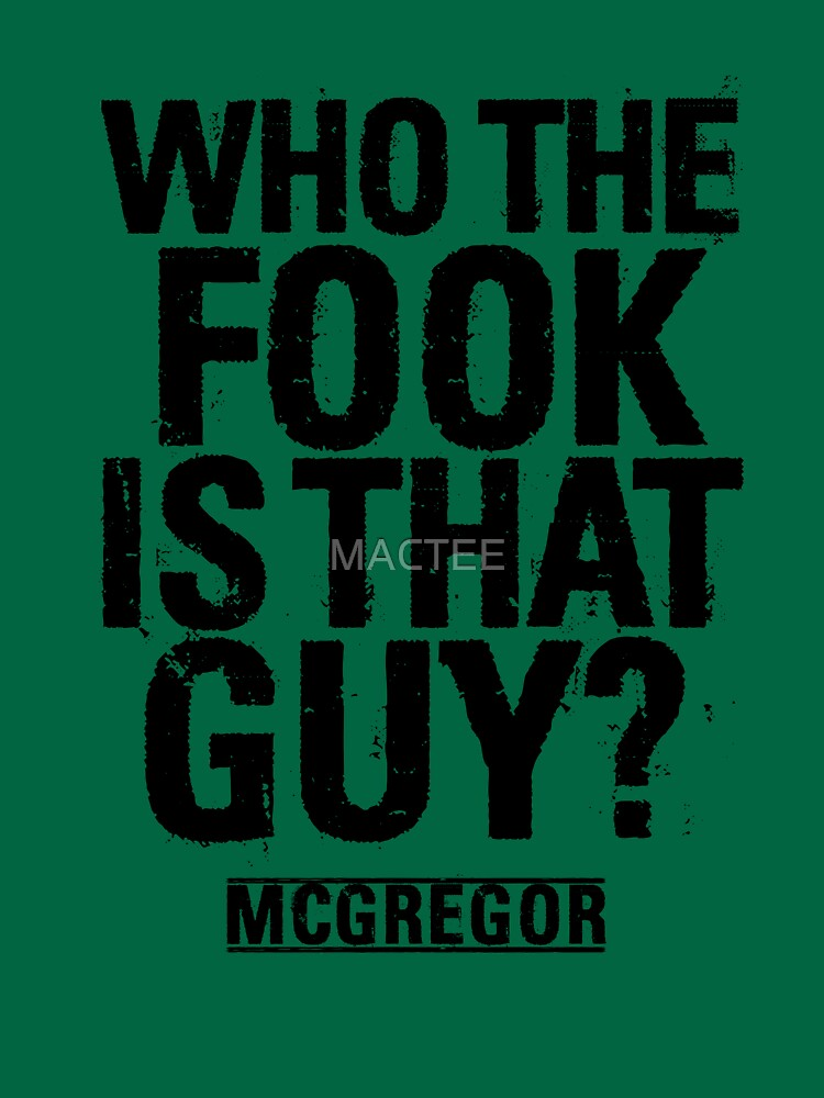 Who the fook is that guy? by MACTEE