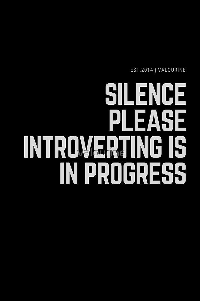 Silence Please Introverting is in Progress by valourine