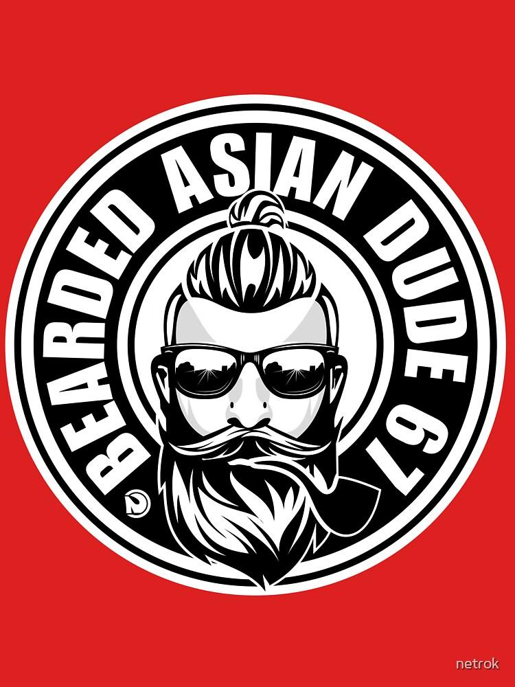 bearded asian dude 67 by netrok