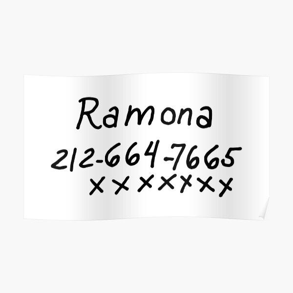 Scott Pilgrim - Ramona Flowers Phone Number Poster