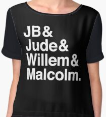 A LITTLE LIFE book JB & Jude & Willem & Malcolm (in white) Chiffon Top