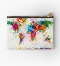 Weltkarte Paint Splashes Täschchen