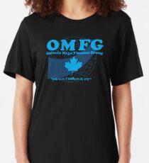 OMFG: Ontario Mega Finance Group Slim Fit T-Shirt