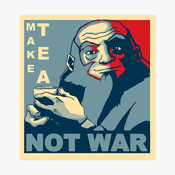"Iroh ""Make Tea Not War"" Photographic Print"