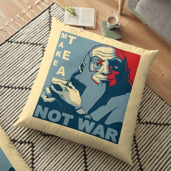 """Iroh """"Make Tea Not War"""" Floor Pillow"""