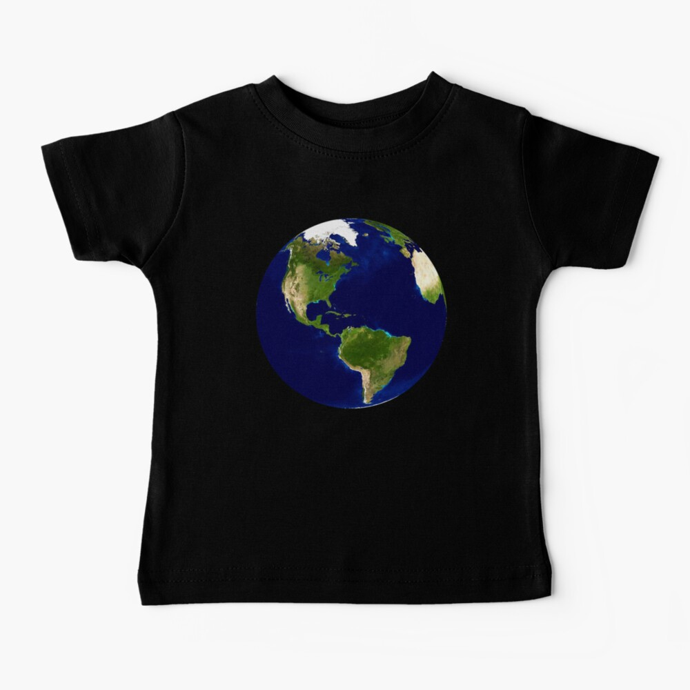 North America, From Space, Planet Earth, Globe Baby T-Shirt