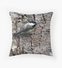Black-Capped Chickadee (2010 Calendar Sep) Throw Pillow