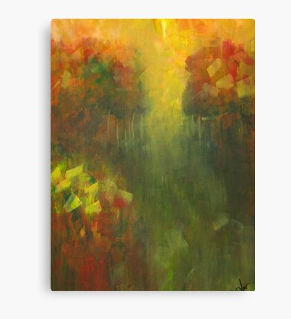 Dreams of Meadows: Abstract Landsacpe Canvas Print