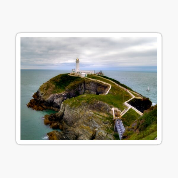 South Stack Lighthouse - Holyhead, Anglesey,  Wales. Sticker