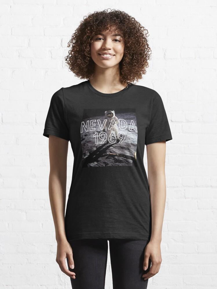 Alternate view of Fake Moon Landing Conspiracy Theory Nasa Lied T-Shirt Essential T-Shirt