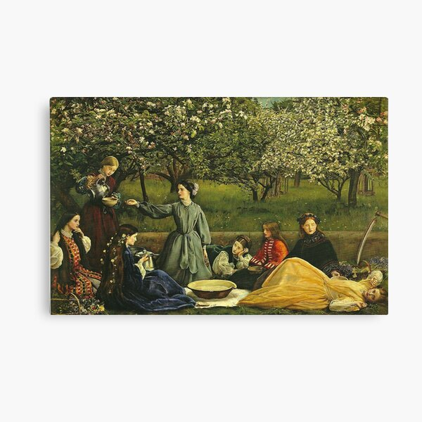 Spring or Apple Blossoms - John Everett Millais Canvas Print