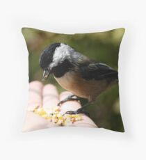 Black-Capped Chickadee (2010 Calendar Jun) Throw Pillow