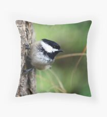 Black-Capped Chickadee (2010 Calendar Mar) Throw Pillow