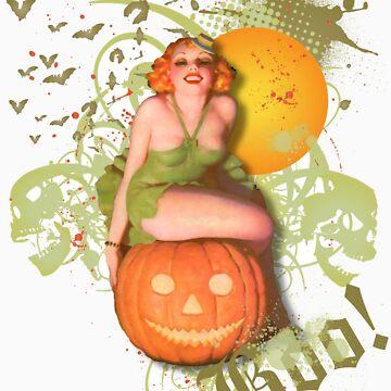 The Kitsch Bitsch : Jack O' Lantern Halloween Pin-Up by TheKitschBitsch
