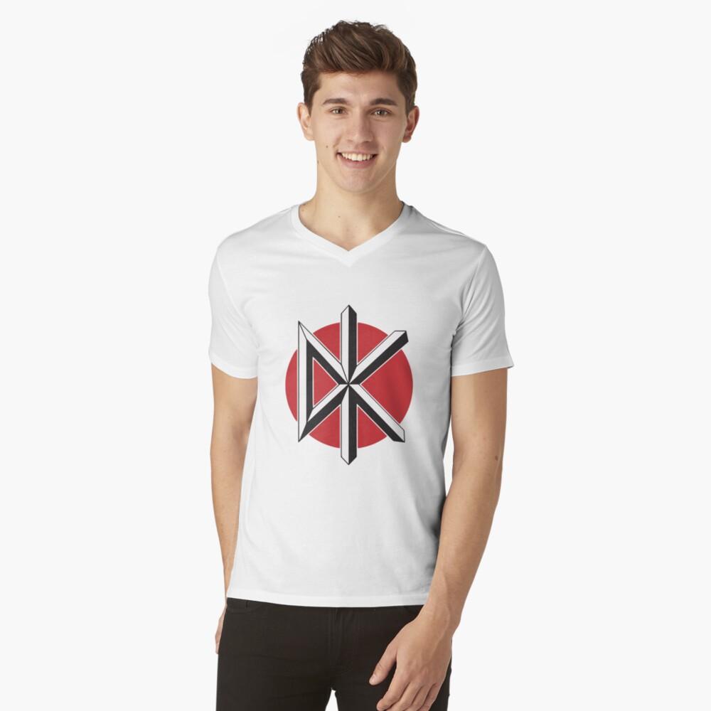 DeadKennedys weiß T-Shirt mit V-Ausschnitt