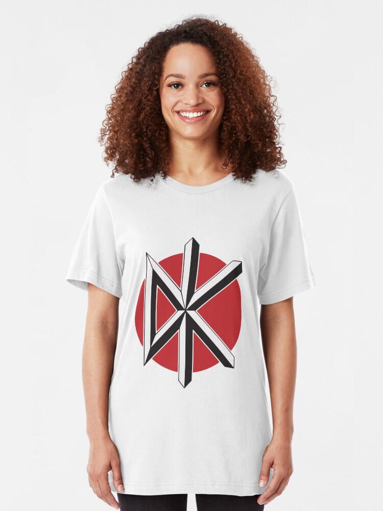 Alternative Ansicht von DeadKennedys weiß Slim Fit T-Shirt