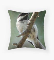 Black-Capped Chickadee (2010 Calendar Jan) Throw Pillow