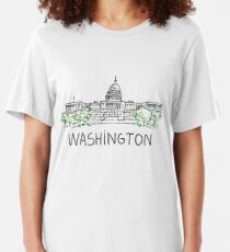 Washington DC USA Slim Fit T-Shirt