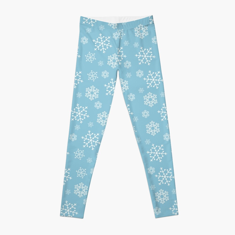 Snowflakes Leggings Front