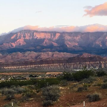 Sand Hollow State Park Sunrise Mountains Low Clouds by UrbanTailsGear