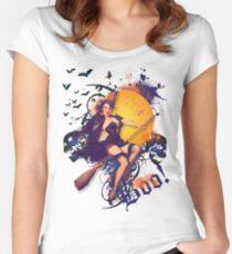The Kitsch Bitsch : Halloween Kitsch Witsch Pin-Up Women's Fitted Scoop T-Shirt