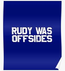 Rudy Was Offsides Irish Burn South Bend Humor Poster