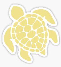 Schildkröte - Gelb Glänzender Sticker
