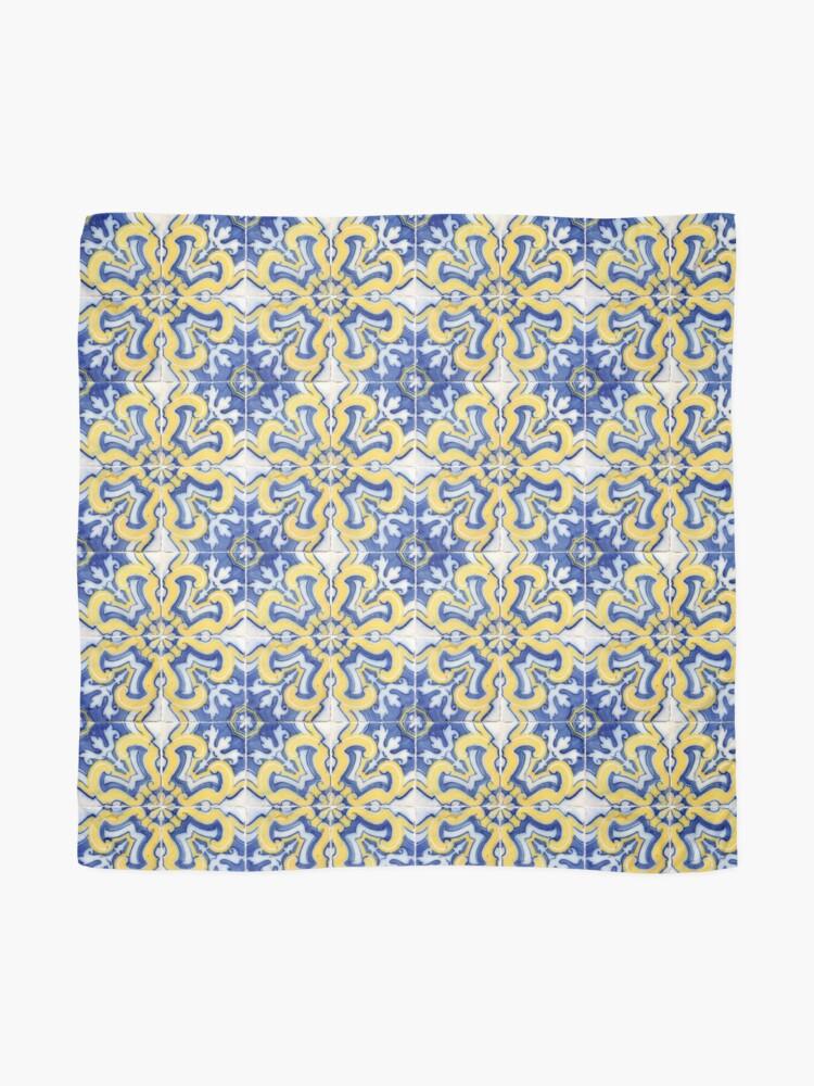 Alternate view of Azulejo — Portuguese ceramic Scarf