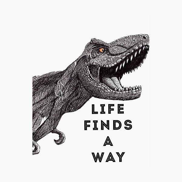 Tyrannosaurus Rex: Life Finds A Way Photographic Print
