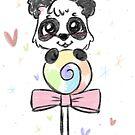 Panda loves lollys by RoxysArtShop